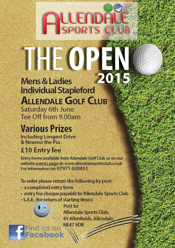 501-Sports Club Open Poster